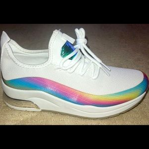 3a6ce764 Shoes - ‼️LAST 1‼️White rainbow women Holo pride sneakers ‼
